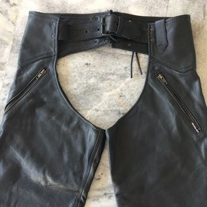 Redline Leather Motorcycle Chaps